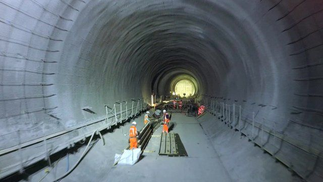 The BBC was given drone access to Crossrail tunnels