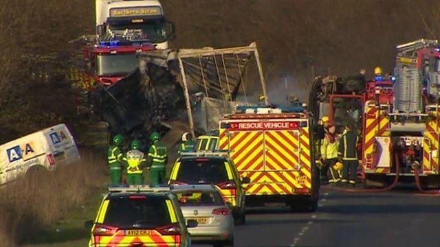 Hartford crash site on A141