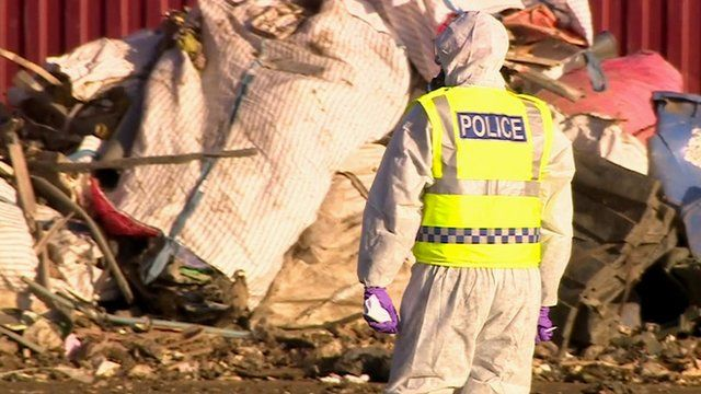 Police at waste site in Newark