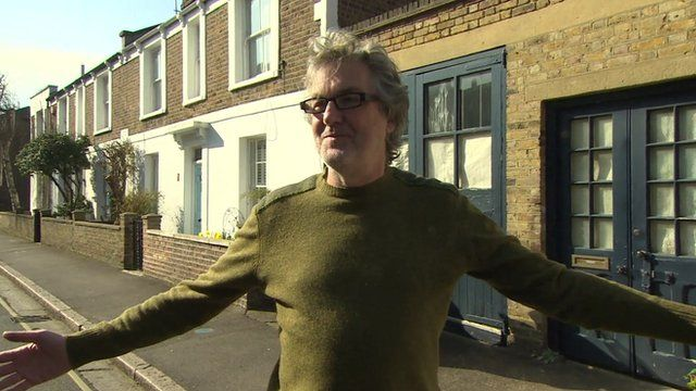 James May outside his home