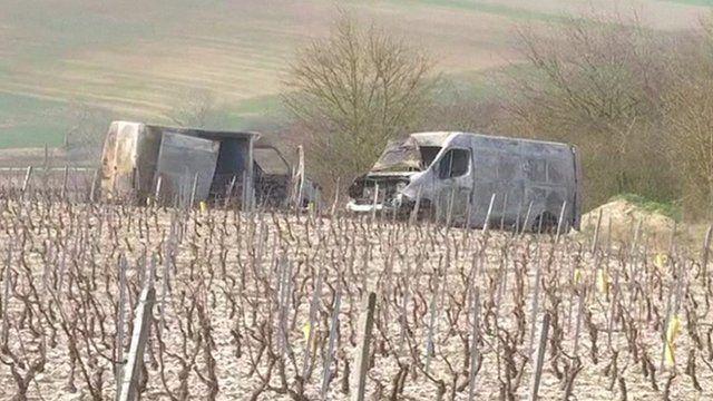 Burnt-out vans
