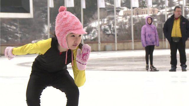 Ice skating rink in Almaty