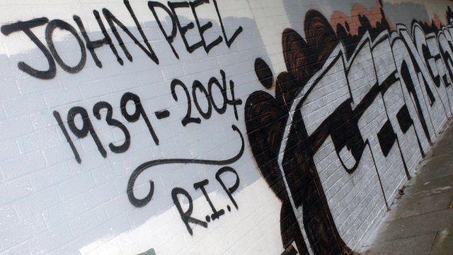 The original mural had a tribute to late BBC Radio 1 DJ John Peel, as Helen Jones reports