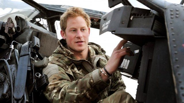 Prince Harry making his early morning pre-flight checks at the British controlled flight-line at Camp Bastion