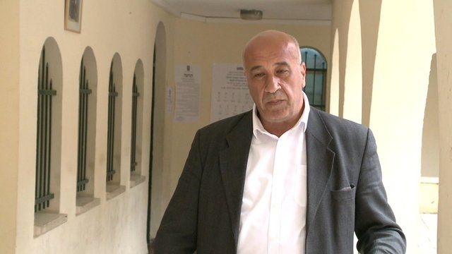 BBC Arabic reporter, Issam I-kirm-awi, reporting from Nazareth