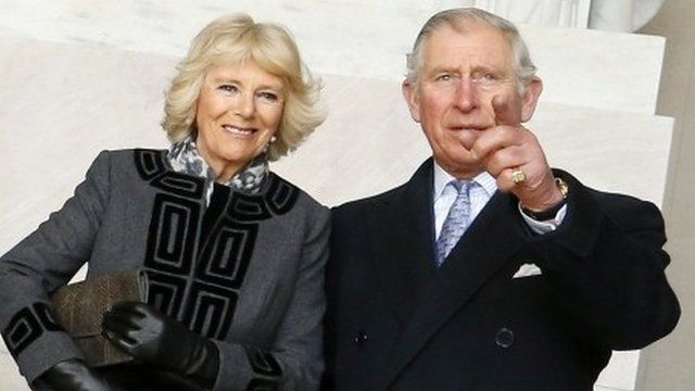 Prince Charles, Prince of Wales, and his wife Camilla, Duchess of Cornwall, visit the Lincoln Memorial in Washington, March 18