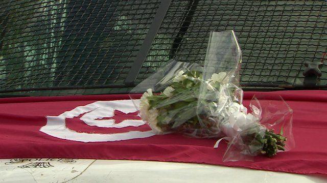 Flowers on the Tunisian flag