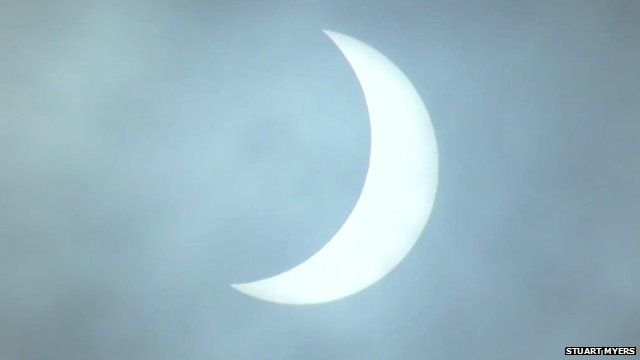 Solar eclipse seen from the Isle of man