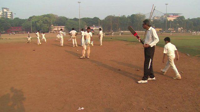 Cricketers in Shivaji Park, Mumbai