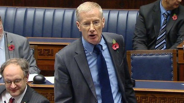 Gregory Campbell yawned loudly when Sinn Féin member Caitriona Ruane had been speaking in Irish
