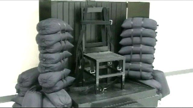 The chair that convicts are strapped to before they are executed