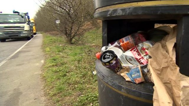 Hundreds of bags of litter have been collected from roads in the East Midlands