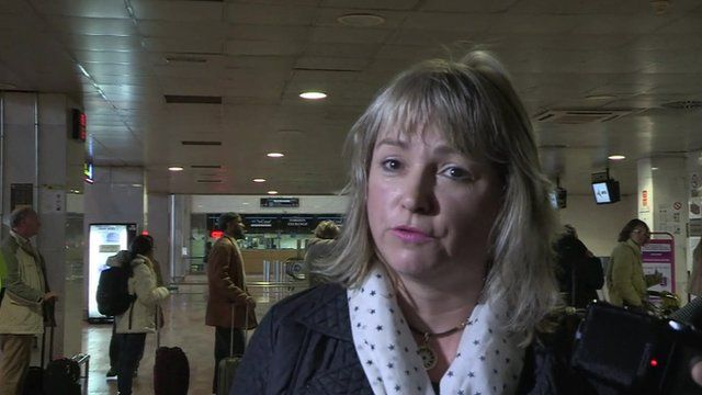 Passenger at Barcelona airport
