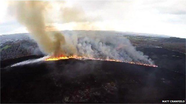 Dartmoor gorse fire