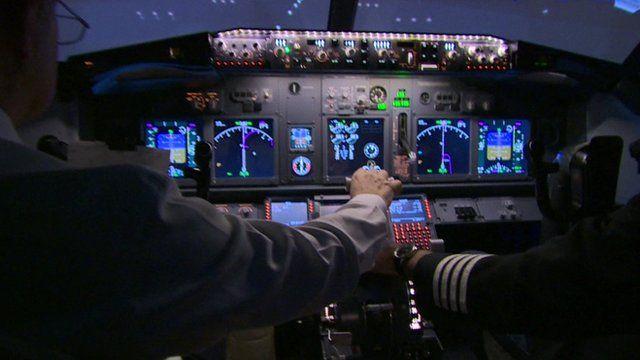 A cockpit simulator