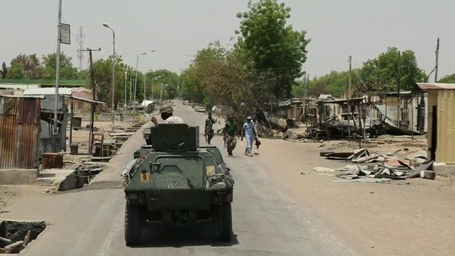 Nigerian army tank