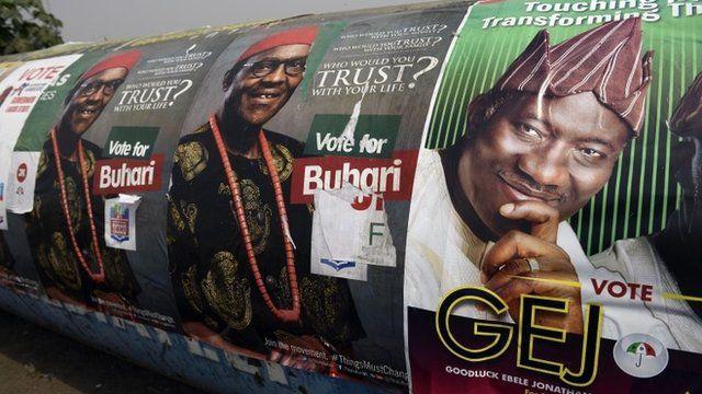 Goodluck Jonathan and Muhammadu Buhari