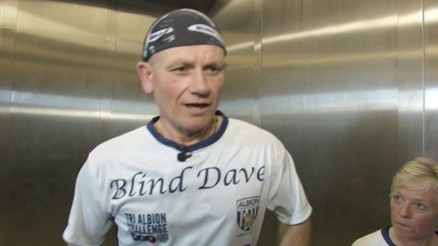 Blind Dave and physiotherapist Rosemary Rhodes