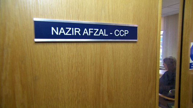 Nazir Afzal's office door
