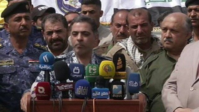 Iraq's interior minister Mohammed Salem al-Ghabban