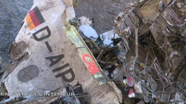 Footage of the Germanwings Flight