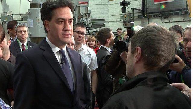Ed Miliband in Huddersfield