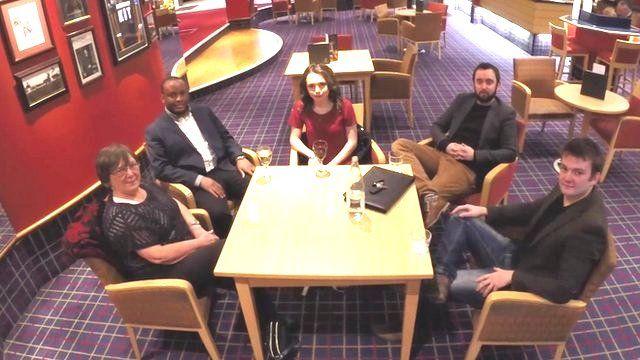 From left to right:, Barbara Spence, Blessing Margere, Emily Clark, David Ingram, Matt Tomkin