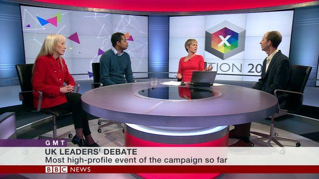 A panel discusses Thursday's debate on BBC World News' GMT programme