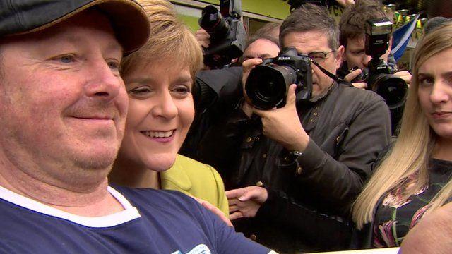 Man takes selfie with SNP leader Nicola Sturgeon