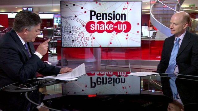 Simon Gompertz answering pensions questions