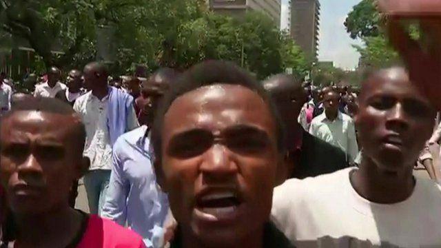 Kenyans march in Nairobi