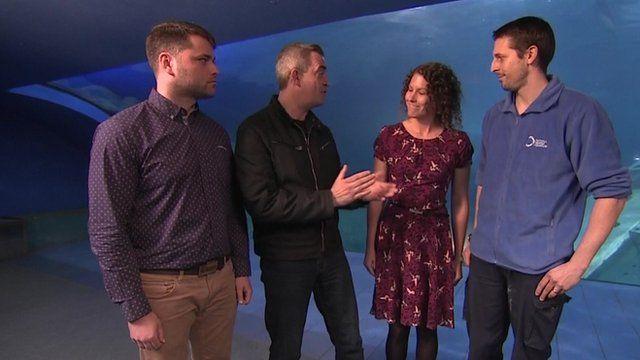 Giles Dilnot with Marcus Williams, Emma Mellor and Shaun MacLellan