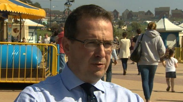 Owen Smith interviewed on the campaign trail at Barry Island, in the Vale of Glamorgan