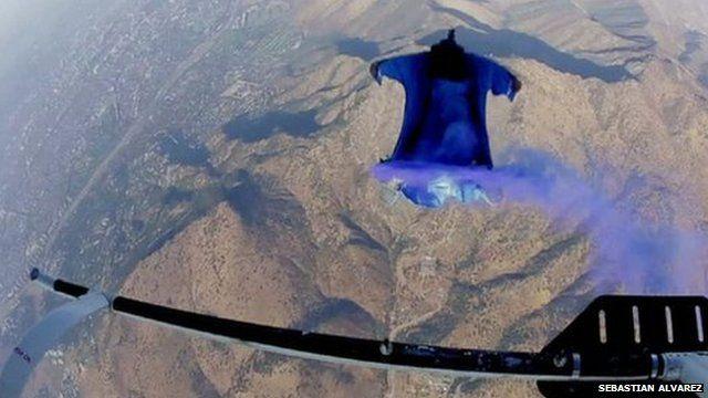 Wingsuit daredevil Sebastian Alvarez