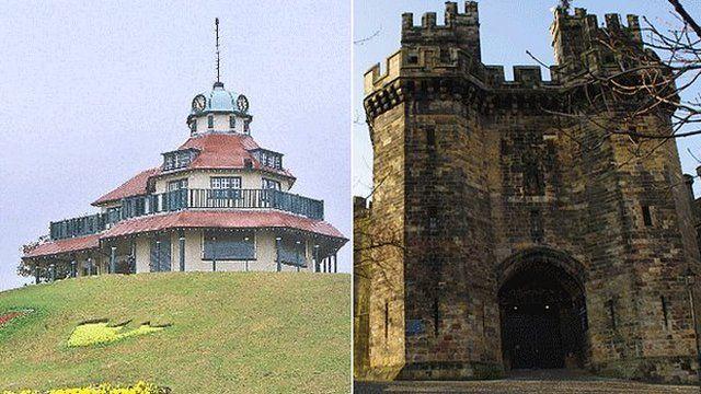 Fleetwood Mount and Lancaster Castle