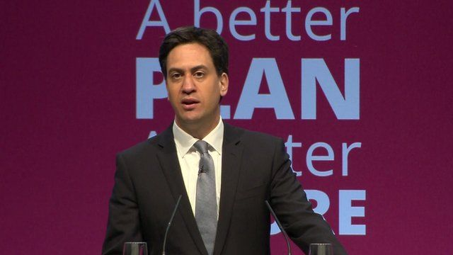Ed Miliband launching Labour manifesto in Manchester