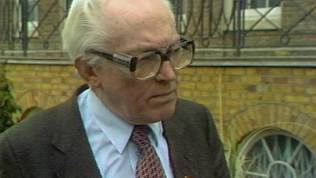 Labour leader Michael Foot speaking after the launch of the party's 1983 general election manifesto