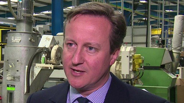 PM David Cameron on visit to North-East England