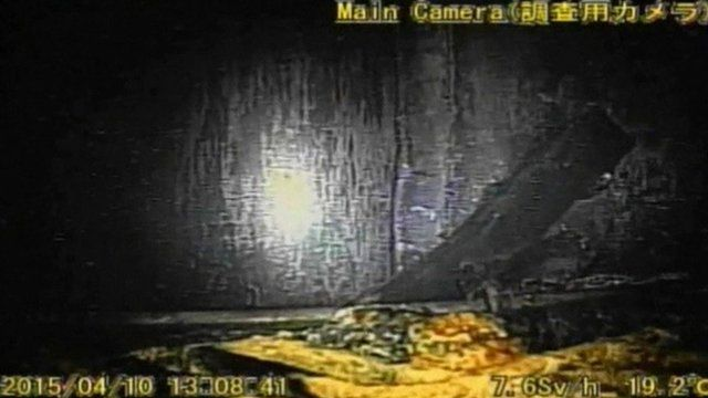 Still from robot camera inside Fukushima reactor