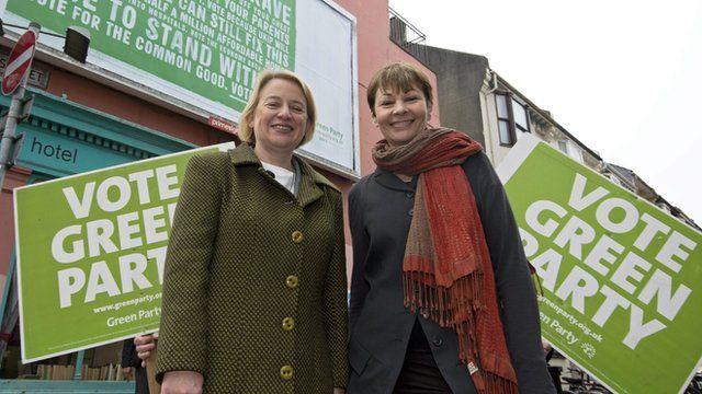 Natalie Bennett and Caroline Lucas