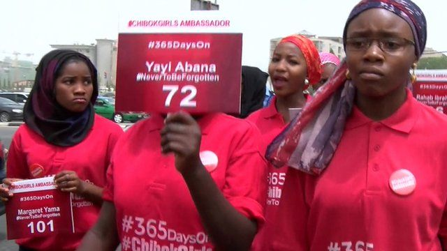 Girls during Abuja protest march