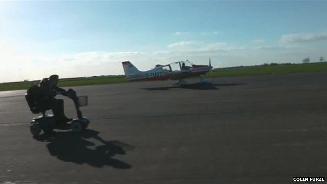 Colin Furze races an aircraft