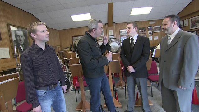 Giles Dilnot with Ian Raisbeck, Dave McGlynn, Stewart Green