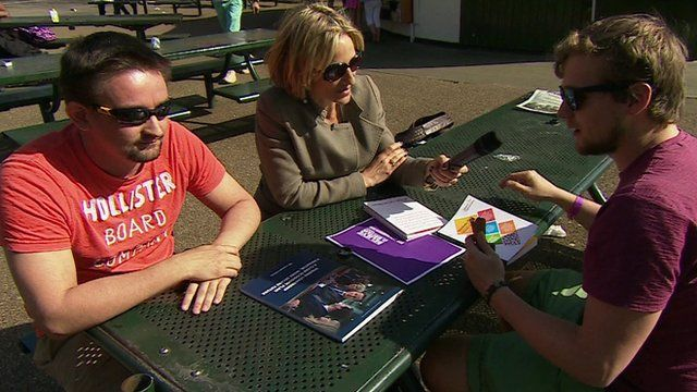 Emily Maitlis interviewing voters in Hyde Park