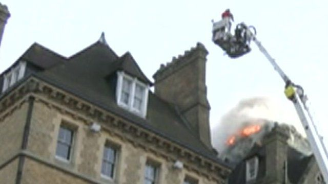 Fire at hotel in Oxford