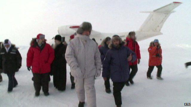 Russian Deputy Prime Minister Dmitry Rogozin in white