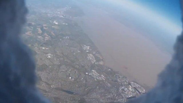 Image captured by a camera mounted on a balloon