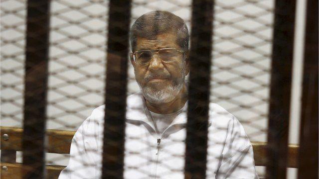 Former Egyptian president Mohammed Morsi