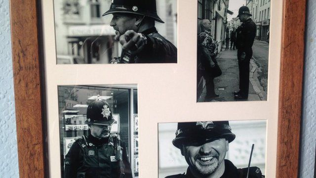 Frame of photos of Andy Hocking