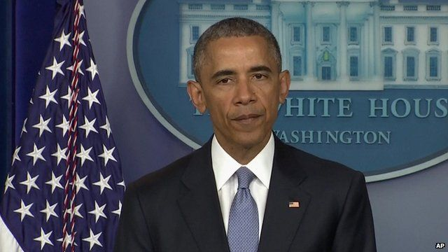 President Obama making statement on the death of two hostages